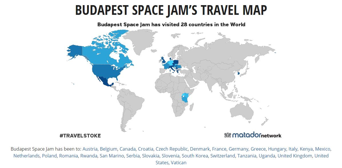 budapest space jam travel map