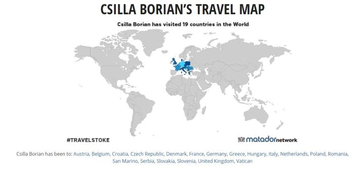 travel map csilla